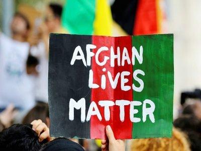 Manifestation en solidarité avec les Afghans, à Paris, le 5 septembre 2021    Stefano RELLANDINI [AFP]