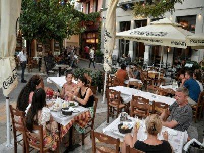Dans le centre d'Athènes, le 7 juillet 2021    Louisa GOULIAMAKI [X07402/AFP/Archives]