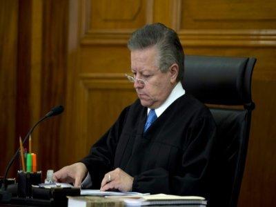 Arturo Zaldivar, de la Cour suprême du Mexique, à Mexico, le 23 janvier 2013    YURI CORTEZ [AFP/Archives]