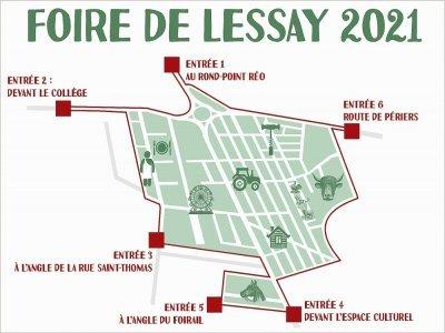 Plan des entrées    Foire de Lessay