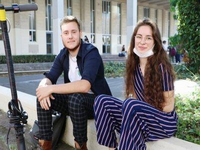 Justin Guérin et Lucie Martin ont fait leur rentrée sur le Campus 1 de l'université de Caen.