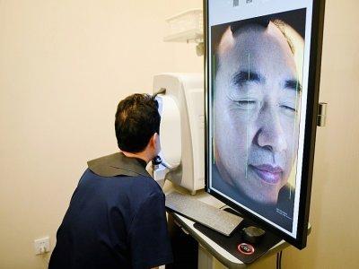Scan facial dans une clinique de chirurgie esthétique de Pékin, le 25 août 2021    WANG ZHAO [AFP]