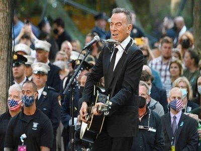 Bruce Springsteen lors des commémorations du 20e anniversaire des attaques contre le World Trade Center, le 11 septembre 2021 à New York    Jim WATSON [AFP]