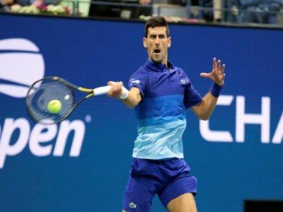 Le Serbe Novak Djokovic, lors de la demi-finale de l'US Open contre l'Allemand Alexander Zverev, le 10 septembre 2021 à New York    Kena Betancur [AFP]
