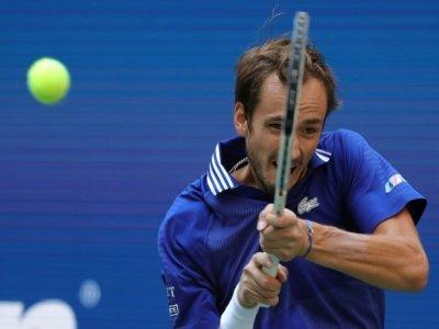 Le Russe Daniil Medvedev, lors de sa victoire en demi-finale de l'US Open contre le Canadien Félix Auger-Aliassime, le 10 septembre 2021 à New York    Kena Betancur [AFP]