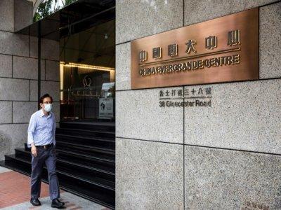 Les bureaux d'Evergrande dans le quartier de Wan Chaï, le 6 août 2021 à Hong Kong    ISAAC LAWRENCE [AFP/Archives]