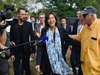 La maire de Paris Anne Hidalgo le 11 septembre 2021 à la Fête de l'Huma à La Courneuve, près de Paris    Lucas BARIOULET [AFP]