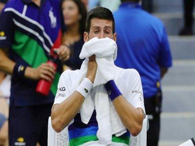 Le Serbe Novak Djokovic au cours de la finale de l'US Open contre Daniil Medvedev, le 12 septembre 2021 à l'US Open    Kena Betancur [AFP]