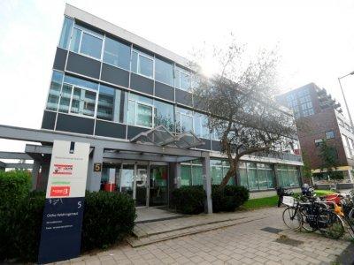 Le siège de l'ONG Greenpeace, le 10 septembre 2021 à Amsterdam, aux Pays-Bas    John THYS [AFP]