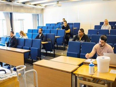 Des étudiants en ingéniérie pétrolière à l'Université de Stavanger, le 30 août 2021 en Norvège    Petter BERNTSEN [AFP]