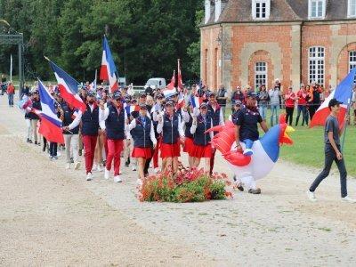 L'équipe de France, lors du défilé des nations.