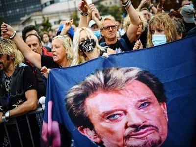 Hommage à Johnny Hallyday le 14 septembre 2021 à Paris    Christophe ARCHAMBAULT [AFP]