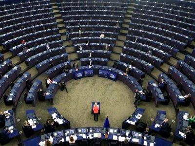 La présidente de la Commission européenne, Ursula von der Leyen, le 15 septembre 2021 à Strasbourg    YVES HERMAN [POOL/AFP]