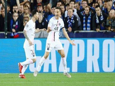Le milieu de terrain du PSG Ander Herrera, auteur de l'ouverture du score du PSG lors du match nul (1-1) à Bruges mercredi 15 septembre lors de la première journée de phase de poules de Ligue des champions    KENZO TRIBOUILLARD [AFP]