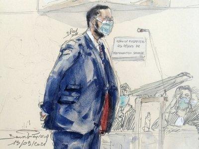 Croquis d'audience d'Alexandre Benaalla lors e son procès, le 13 septembre 2021 à Parisd    Benoit PEYRUCQ [AFP]