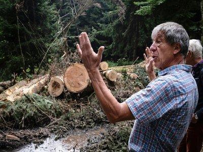 Frédéric Beaucher, fondateur du Chat sauvage, le 3 septembre 2021 à Dun-Les-Places - JEAN-PHILIPPE KSIAZEK [AFP/Archives]