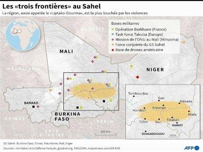 """Les """"trois frontières"""" au Sahel - [AFP]"""