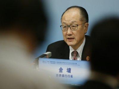 Le président de la Banque mondiale Jim Yong Kim, le 6 novembre 2018 à Pékin - THOMAS PETER [POOL/AFP/Archives]