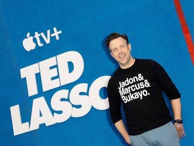 """L'acteur Jason Sudeikis assiste à la première de la saison 2 de """"Ted Lasso"""", le 15 juillet 2021 à Hollywood - VALERIE MACON [AFP/Archives]"""