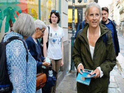 Delphine Batho en campagne pour sa candidature, le 9 septembre 2021 à Rennes - JEAN-FRANCOIS MONIER [AFP/Archives]