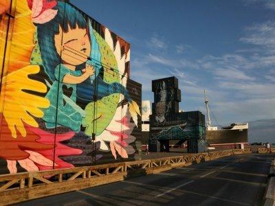 Container peint par un street artiste le 17 septembre 2021 au Barcarès - RAYMOND ROIG [AFP]