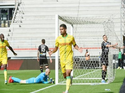 Le milieu offensif Ludovic Blas s'est offert un doublé à Angers au stade Raymond-Kopa, e 19 septembre 2021 - JEAN-FRANCOIS MONIER [AFP]
