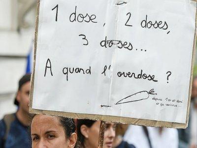 Manifestation anti-pass sanitaire à Nantes, le 18 septembre 2021 - Sebastien SALOM-GOMIS [AFP/Archives]