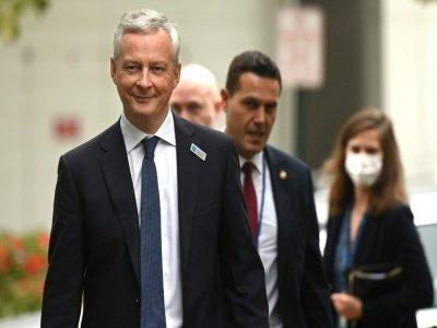 Le ministre français des Finances Bruno Le Maire à Washington, le 13 octobre 2021 à l'occasion des réunions d'automne du Fonds monétaire international et de la Banque mondiale - Jim WATSON [AFP]