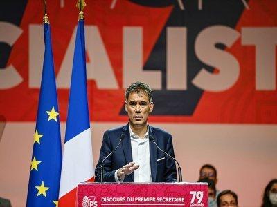 Olivier Faure lors d'un congrès du Parti socialiste, le 19 septembre 2021 à Villeurbanne - OLIVIER CHASSIGNOLE [AFP/Archives]