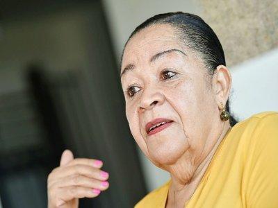 Léa Tavares Mujinga, arrachée à sa mère à l'âge de 2 ans dans les années 40, lors d'une interview avec l'AFP à Bruxelles, le 2 septembre 2020 - JOHN THYS [AFP/Archives]