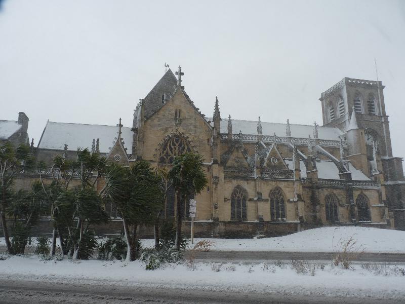 La basilique de la Trinité à Cherbourg. - Caradec