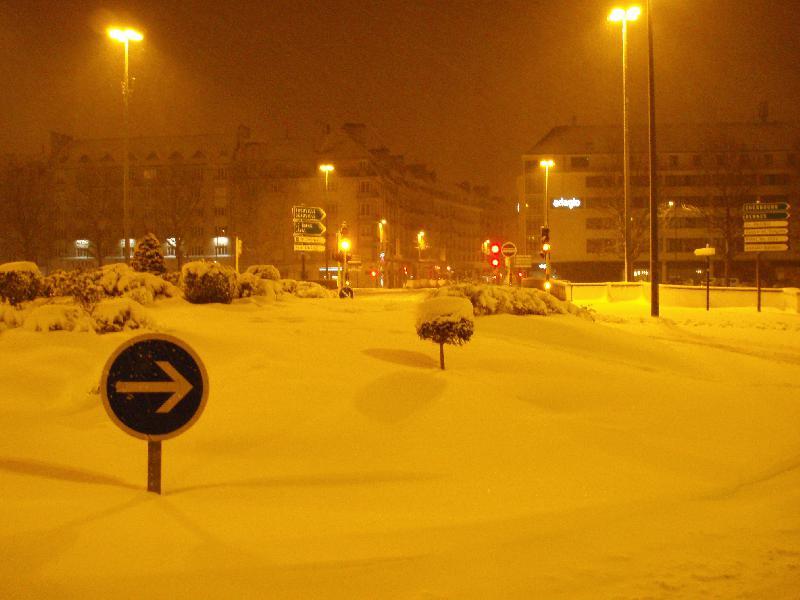 Caen sous la neige, 12 mars 2013.