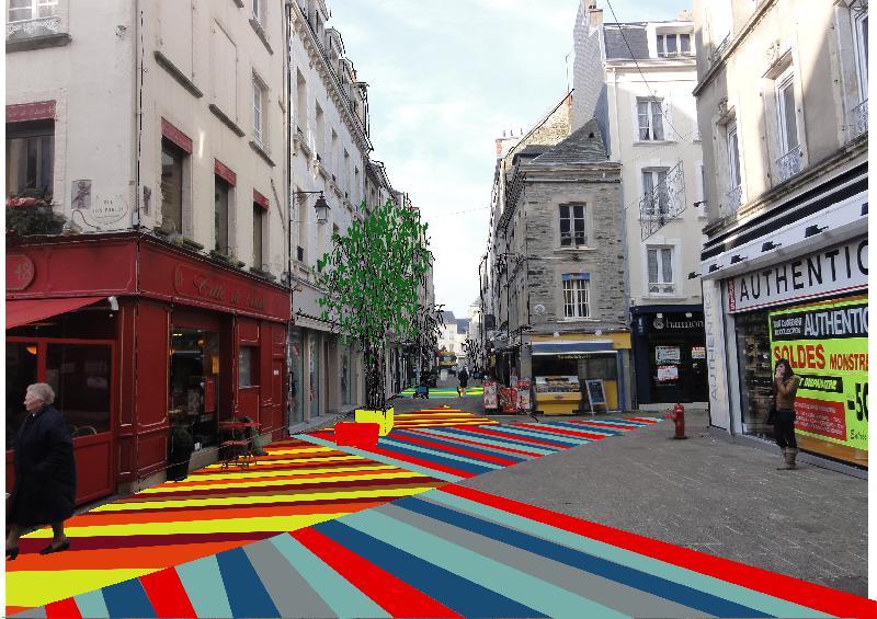 Les plaques de couleurs au centre-ville devraient être installées courant mai.