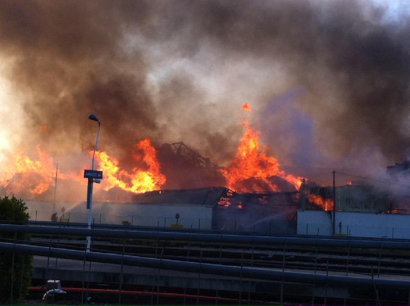 Incendie le 20 avril 2013 à Avranches - DR