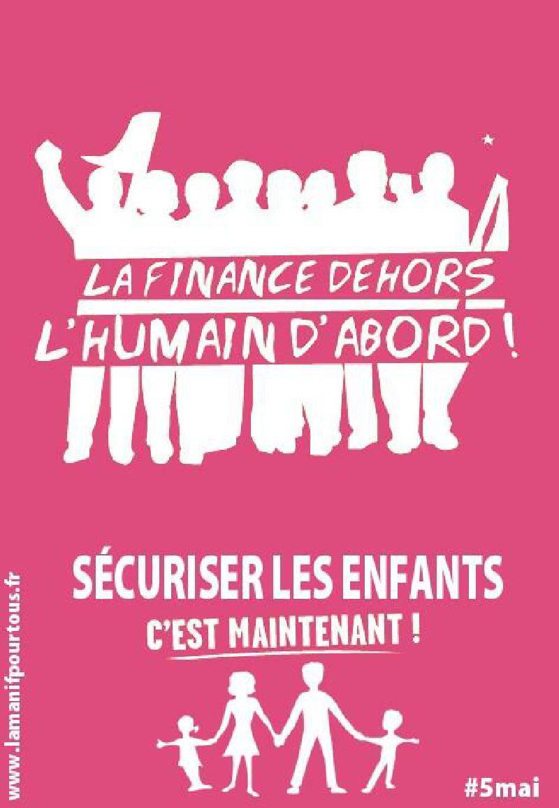 L'affiche du Front de Gauche détournée par la Manif pour Tous - DR.