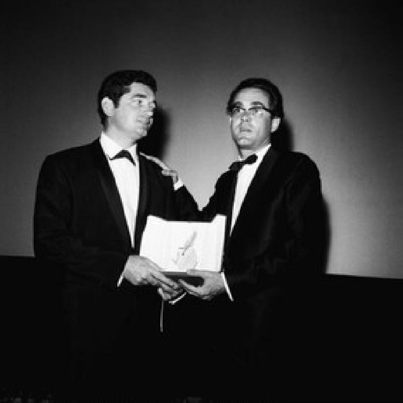 Jacques Demy (à gauche) et Michel Legrand. - Huffschmitt-sipa