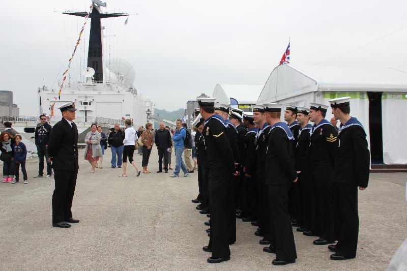 L'équipage du MHS Blyth (Grande-Bretagne) dimanche matin