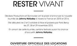 Johnny Hallyday en concert � Caen en d�cembre 2015