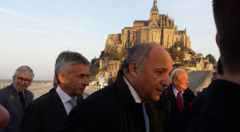EN DIRECT, Laurent Fabius au Mont-Saint-Michel
